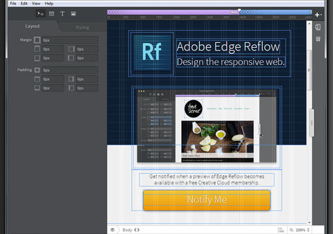 Screenshot Adobe Edge Reflow